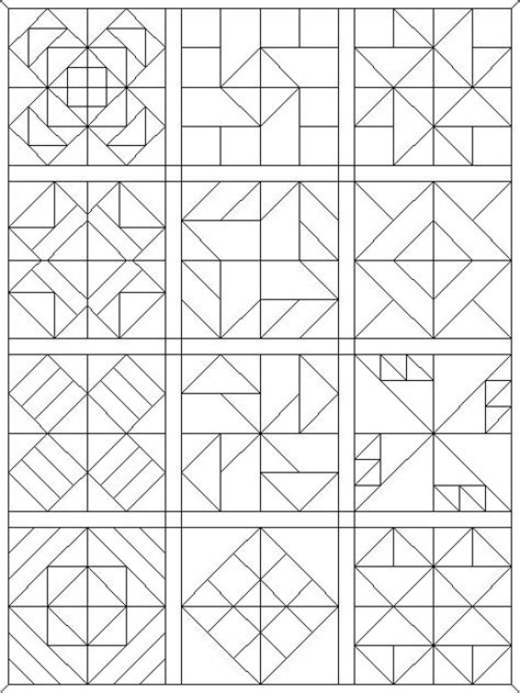 coloring pages quilt blocks   faves paint