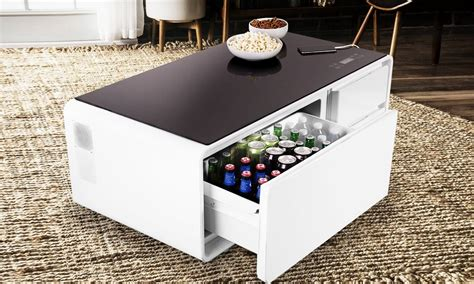 mini fridge end table here 39 s a coffee table equipped with a mini fridge