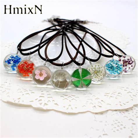 simple korean earring ᐃreal dried dandelion ộ ộ pendant pendant necklace