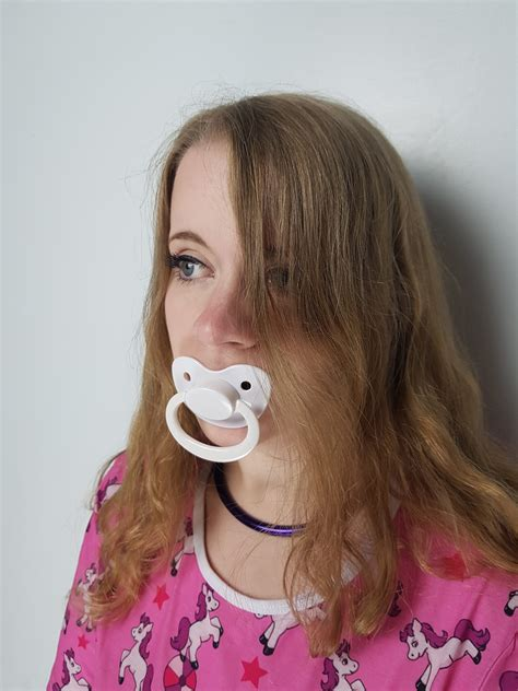 white pacifier  dotty diaper company