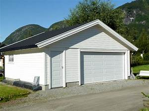 garage en ossature bois avec bardage en sapin lasure With prix construction garage 60m2