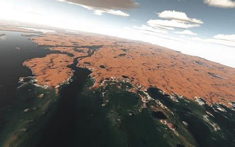 vast ocean covered    surface  mars telegraph