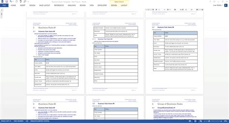 Business rules template costumepartyrun business rules templates ms word excel accmission Image collections