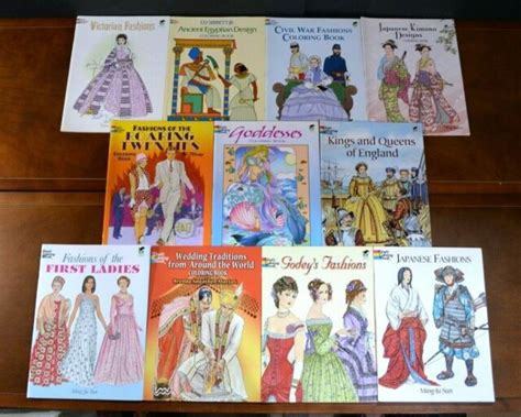 lot  dover coloring books history educational coloring childrens books  ebay