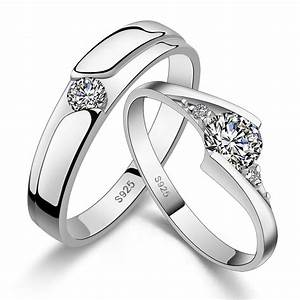 His hers matching couple engagement rings wedding band for Promise ring engagement ring wedding band set