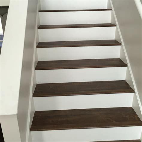 stair nosing for vinyl tile luxury vinyl plank on stairs with white risers vinyl