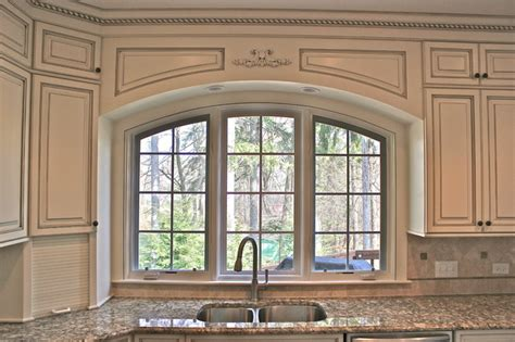custom arched valance traditional kitchen chicago