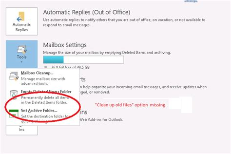Office 365 Outlook Deleted Items by Office 365 Quot Clean Up Items Quot Missing Delete