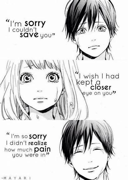 Sad Anime Quotes Manga Boy Dying Smiling