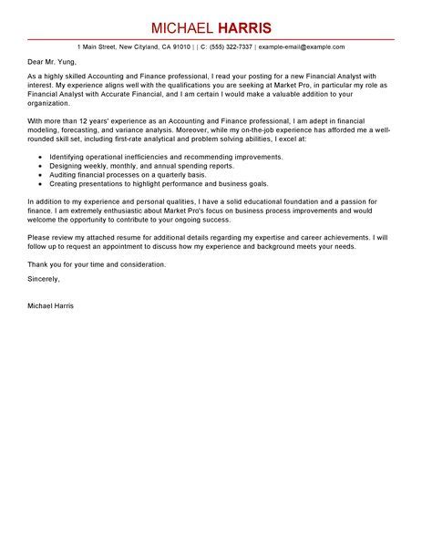 Cover Letter Accounting Manager by Accounting Finance Cover Letter Exles Accounting