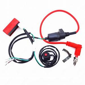 Wiring Loom On Off Switch Coil Cdi Spark Plug Kit For
