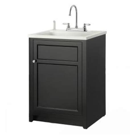 home depot laundry sink foremost conyer 24 in laundry vanity in black and abs