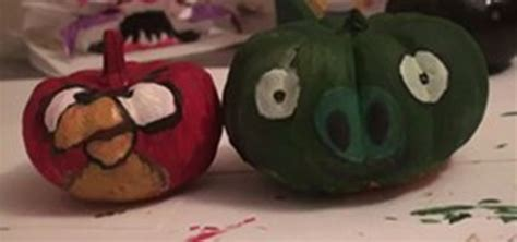 pumpkin decorations how to paint mini pumpkins as angry birds decorations 171 halloween ideas wonderhowto