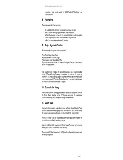 standard project initiation document template