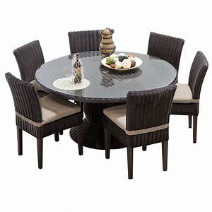 Rustico, 60, Inch, Outdoor, Patio, Dining, Table, With, 6, Chairs, -, Walmart, Com