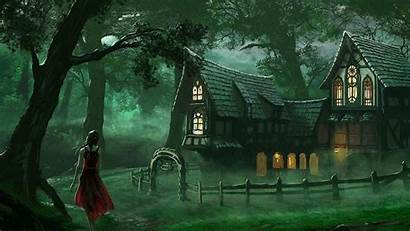 Fantasy Forest Spooky Wallpapers Medieval Graveyard 1080