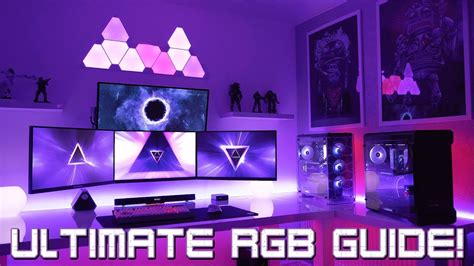 building the ultimate gaming setup with rgb lighting