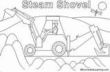Shovel Steam Coloring Pages Enchantedlearning Steamshovel Paint Template sketch template