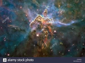 NASA Hubble image of Carina Nebula Galaxy Stock Photo ...