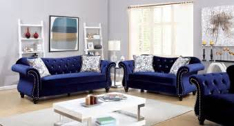Poundex Sectional Sofa Set by Blue Sofa And Loveseat Blue Living Room Furniture Sets