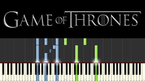 game  thrones piano tutorial synthesia main theme