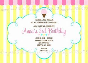 Ice Cream Social Printable Party Invite - Dimple Prints Shop