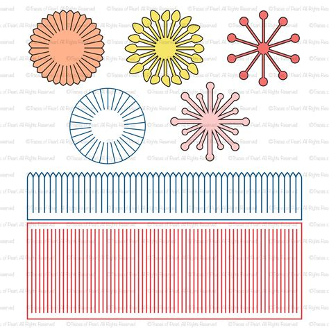 paper flower center template paper flower centers svg file stamen cutting files for paper flower paper flower