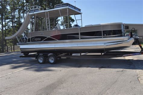 Pontoon With Upper Deck And Slide For Sale by Aloha 260 Mahalo Upper Deck 2015 For Sale For 49 995