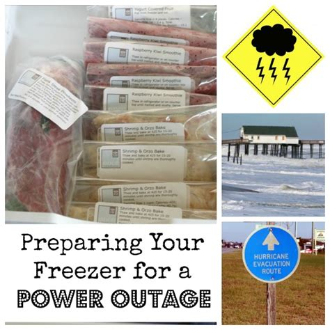 frozen food safety   power outage   month meals