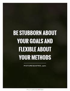 Be stubborn about your goals and flexible about your ...
