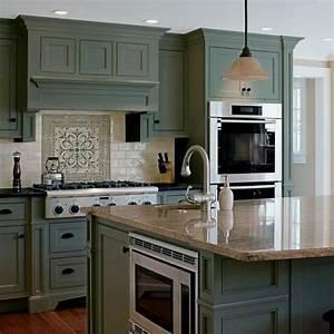 32, Most, Popular, Kitchen, Cabinet, Paint, Color, Ideas, 00024