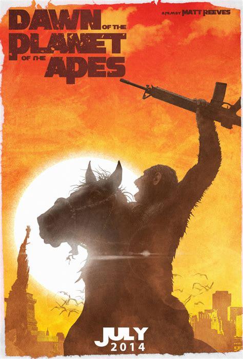 apes planet dawn posters daniele rossini poster movie fan tv deviantart created geek