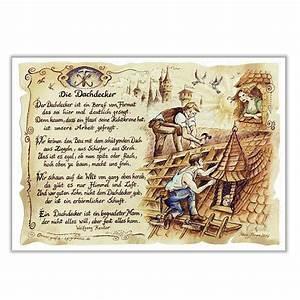 Geschenke Zur Papierhochzeit : zunftbild dachdecker auf antikpapier im a4 format online geschenkeshop mit schraubenm nnchen ~ Sanjose-hotels-ca.com Haus und Dekorationen