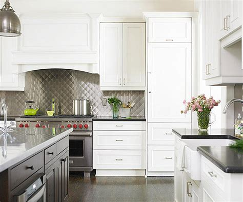 transitional kitchen backsplash ideas metal backsplash ideas 6345