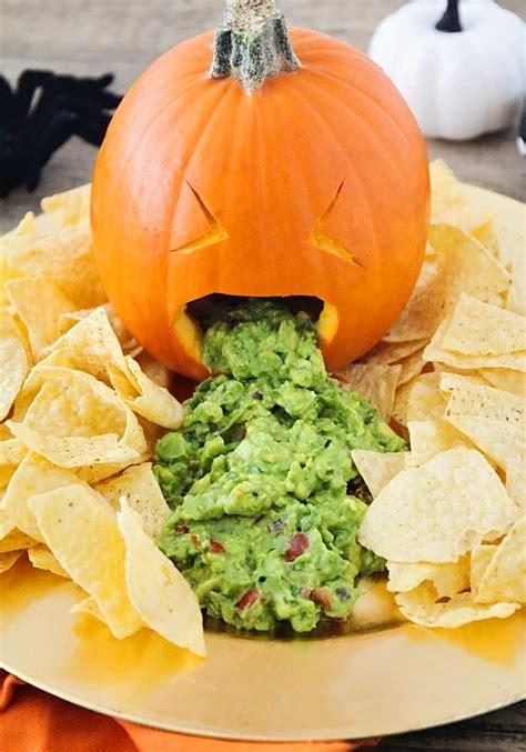 Pumpkin Puke Guacamole by Throwing Up Pumpkin Guacamole A Festive Halloween Party Food