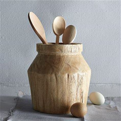 Acacia Wood Utensil Holder   west elm