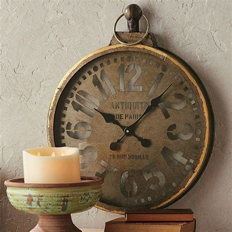 clocks decor objects antiqued gold pocket  wall