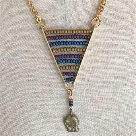 Free Pattern Beaded Chevron Pendant  Jewelry Making Blog