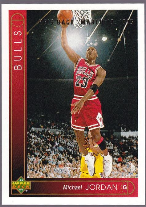 Deck Michael 1993 chicago bulls 1993 94 deck michael he s back