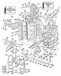 Johnson 1990 225 - J225plass  Cylinder  U0026 Crankcase