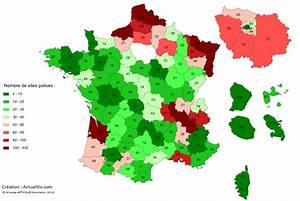 Carte France Pollution : nombre de sites pollu s par d partement ~ Medecine-chirurgie-esthetiques.com Avis de Voitures