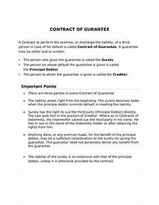 written guarantee template choice image template design With suretyship agreement template