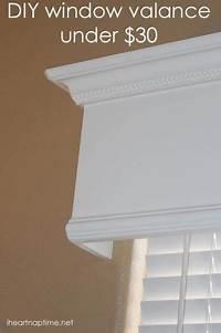 how to make a window valance Tutorial: How to make a wood valance window treatment - I Heart Nap Time