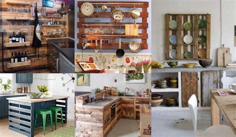 decorar cocinas  palets reciclados muchas ideas