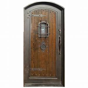 trento 36 in x 80 in bronze right hand finished iron With bronze entry doors