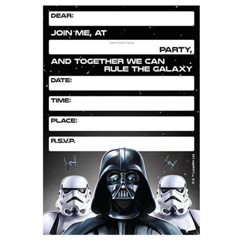 32 Amazing Star Wars Birthday Invitations Kitty Baby Love