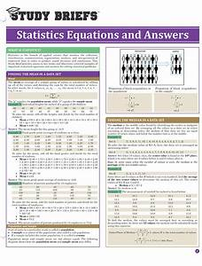 Statistics Equations And Answers  U2013 Study Briefs
