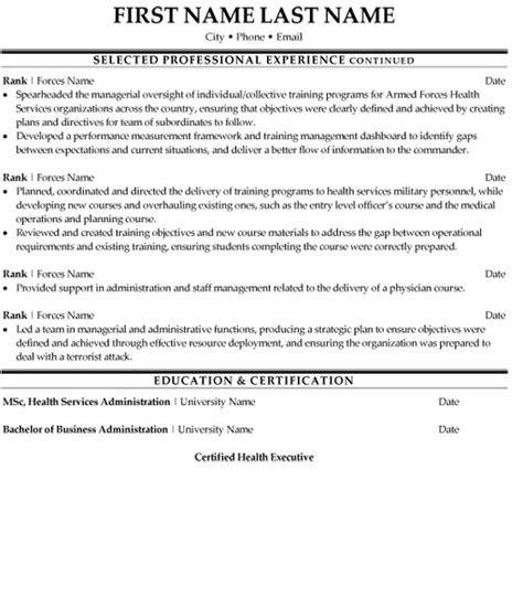 Healthcare Resume Writing Services by Health Services Manager Resume Sle Template