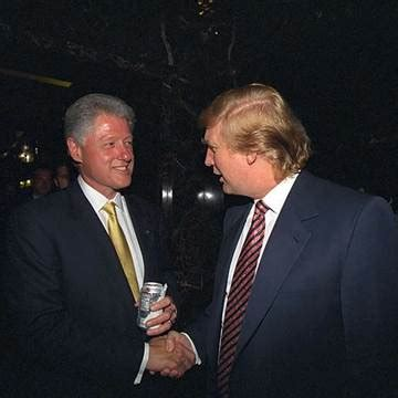 Bill Clinton with Donald Trump