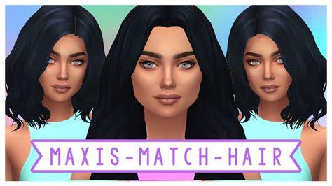 the sims 4 maxis match cc hair haul cc list